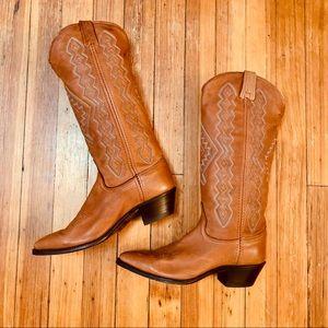 Dan Post Buckskin leather cowboy boot 8.5